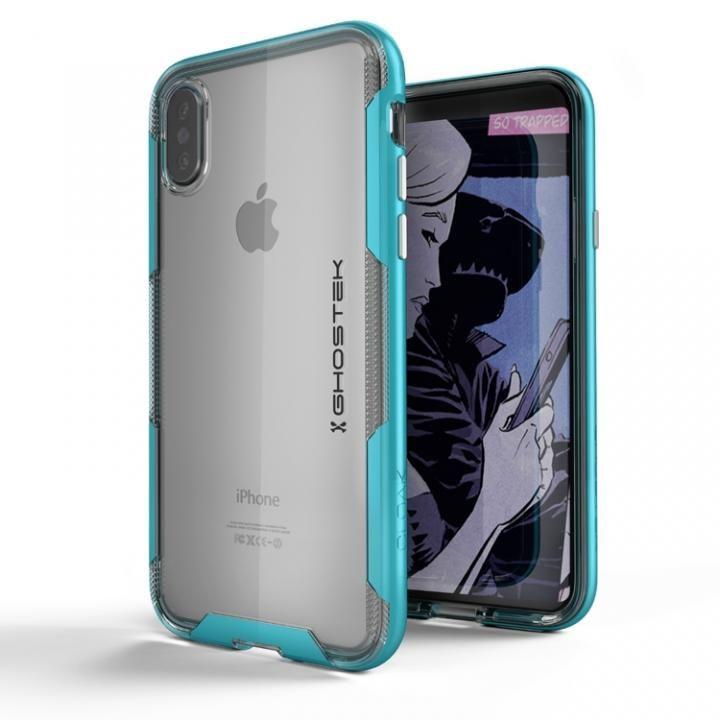 iPhone X ケース スタイリッシュなハイブリッドケース クローク3 ティール iPhone X_0