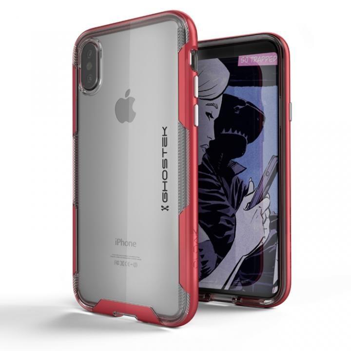 iPhone X ケース スタイリッシュなハイブリッドケース クローク3 レッド iPhone X_0