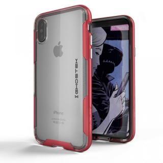 スタイリッシュなハイブリッドケース クローク3 レッド iPhone X