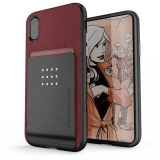カードクリップ付タフケース エグゼク2 レッド iPhone X