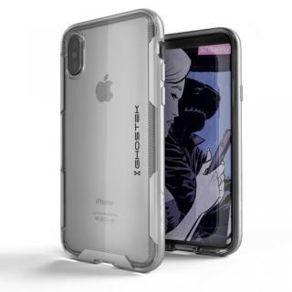 スタイリッシュなハイブリッドケース クローク3 シルバー iPhone X