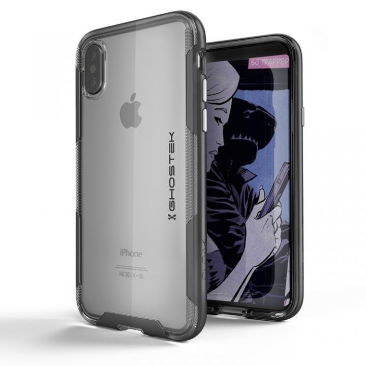 iPhone X ケース スタイリッシュなハイブリッドケース クローク3 ブラック iPhone X_0