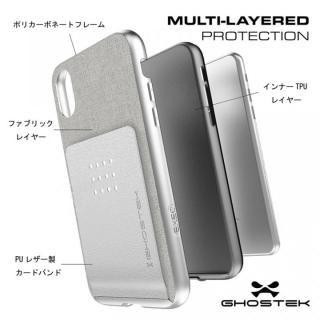 【iPhone Xケース】カードクリップ付タフケース エグゼク2 シルバー iPhone X_3