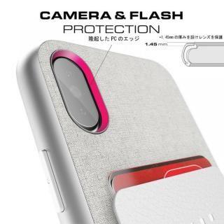 【iPhone Xケース】カードクリップ付タフケース エグゼク2 シルバー iPhone X_4