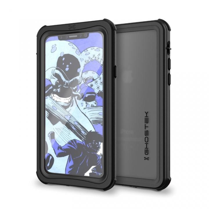 【iPhone Xケース】IP68防水防塵タフネスケース ノーティカル ブラック iPhone X_0
