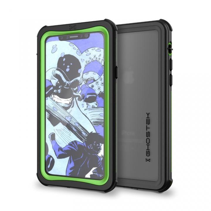 IP68防水防塵タフネスケース ノーティカル グリーン iPhone X
