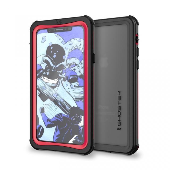 iPhone X ケース IP68防水防塵タフネスケース ノーティカル レッド iPhone X_0