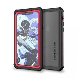 【iPhone X ケース】IP68防水防塵タフネスケース ノーティカル レッド iPhone X