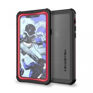 【iPhone Xケース】IP68防水防塵タフネスケース ノーティカル レッド iPhone X
