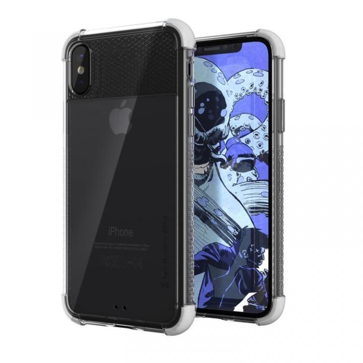 【iPhone Xケース】シンプルなクリアタフケース コバート2 ホワイト iPhone X_0