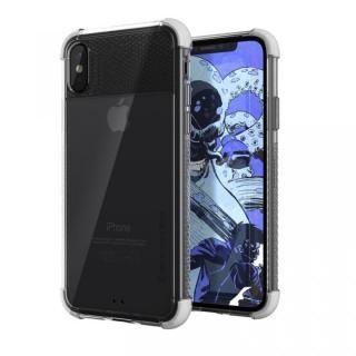 シンプルなクリアタフケース コバート2 ホワイト iPhone X
