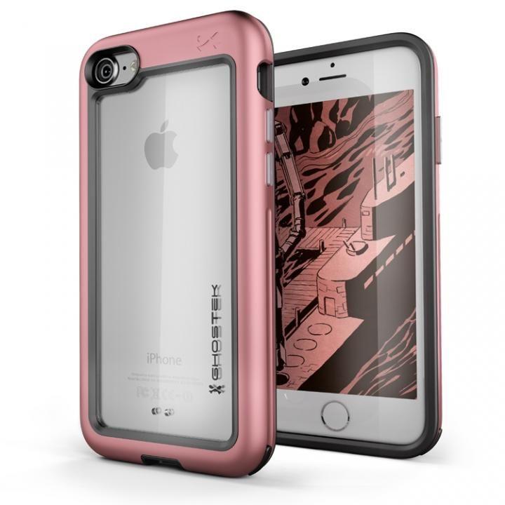 iPhone8/7 ケース アルミ合金製スリムケース アトミックスリム ピンク iPhone 8/7_0