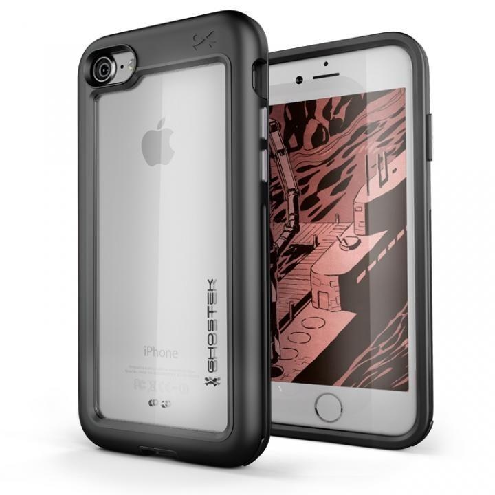 iPhone8/7 ケース アルミ合金製スリムケース アトミックスリム ブラック iPhone 8/7_0