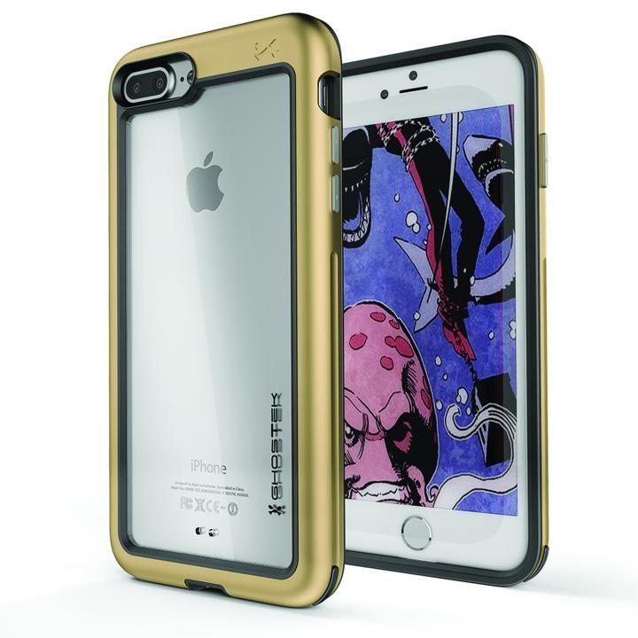 アルミ合金製スリムケース アトミックスリム ゴールド iPhone 8 Plus/7 Plus