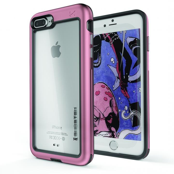 iPhone8 Plus/7 Plus ケース アルミ合金製スリムケース アトミックスリム ピンク iPhone 8 Plus/7 Plus_0