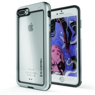アルミ合金製スリムケース アトミックスリム シルバー iPhone 8 Plus/7 Plus