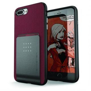 カードクリップ付タフケース エグゼク2 レッド iPhone 8 Plus/7 Plus