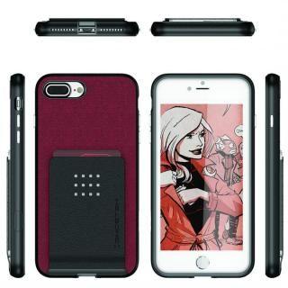 【iPhone8 Plus/7 Plusケース】カードクリップ付タフケース エグゼク2 レッド iPhone 8 Plus/7 Plus_1
