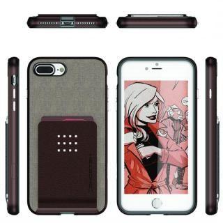 【iPhone8 Plus/7 Plusケース】カードクリップ付タフケース エグゼク2 ブラウン iPhone 8 Plus/7 Plus_1