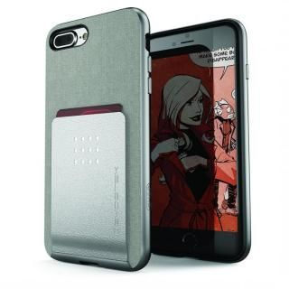 カードクリップ付タフケース エグゼク2 シルバー iPhone 8 Plus/7 Plus