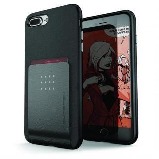 カードクリップ付タフケース エグゼク2 ブラック iPhone 8 Plus【10月上旬】