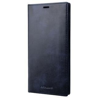 iPhone 13 Pro Max (6.7インチ) ケース GRAMAS Museum-calf Leather Book Case 手帳型レザーケース Navy iPhone 13 Pro Max