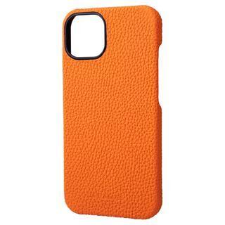 iPhone 13 ケース GRAMAS Shrunken-calf Leather Shell Case 背面型レザーケース Orange iPhone 13【11月上旬】