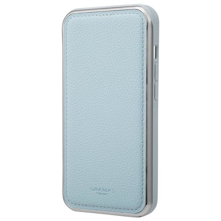 GRAMAS COLORS Shrink PU Leather Hybrid Case 背面型ハイブリッドケース Light Blue iPhone 13【9月下旬】_0