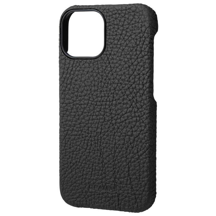 GRAMAS Shrunken-calf Leather Shell Case 背面型レザーケース Black iPhone 13 mini【11月上旬】_0