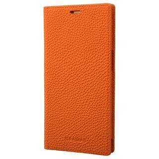iPhone 13 ケース GRAMAS Shrunken-calf Leather Book Case 手帳型レザーケース Orange iPhone 13