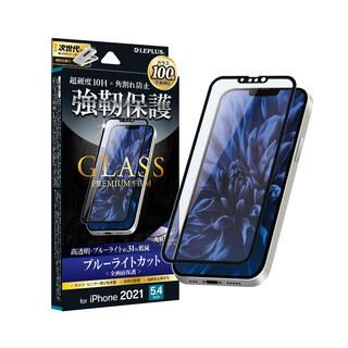 iPhone 13 mini (5.4インチ) フィルム LEPLUS ガラスフィルム GLASS PREMIUM FILM 全画面保護 ソフトフレーム ブルーライトカット iPhone 13 mini