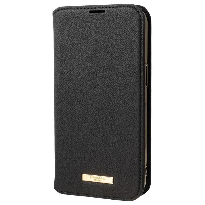 GRAMAS COLORS Shrink PU Leather Book Case 手帳型PUケース Black iPhone 13_0