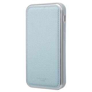 iPhone 13 mini (5.4インチ) ケース GRAMAS COLORS Shrink PU Leather Hybrid Shell Case 背面型ハイブリッドケース Light Blue iPhone 13 mini