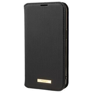 iPhone 13 ケース GRAMAS COLORS Shrink PU Leather Book Case 手帳型PUケース Black iPhone 13
