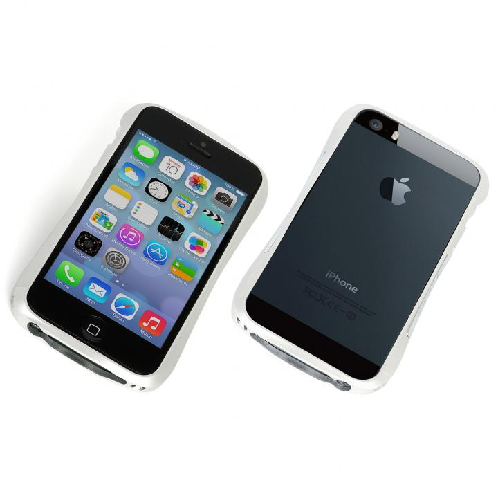 iPhone SE/5s/5 ケース エレガントなアルミバンパー CLEAVE BUMPER Mighty  iPhone SE/5s/5 シルバー_0