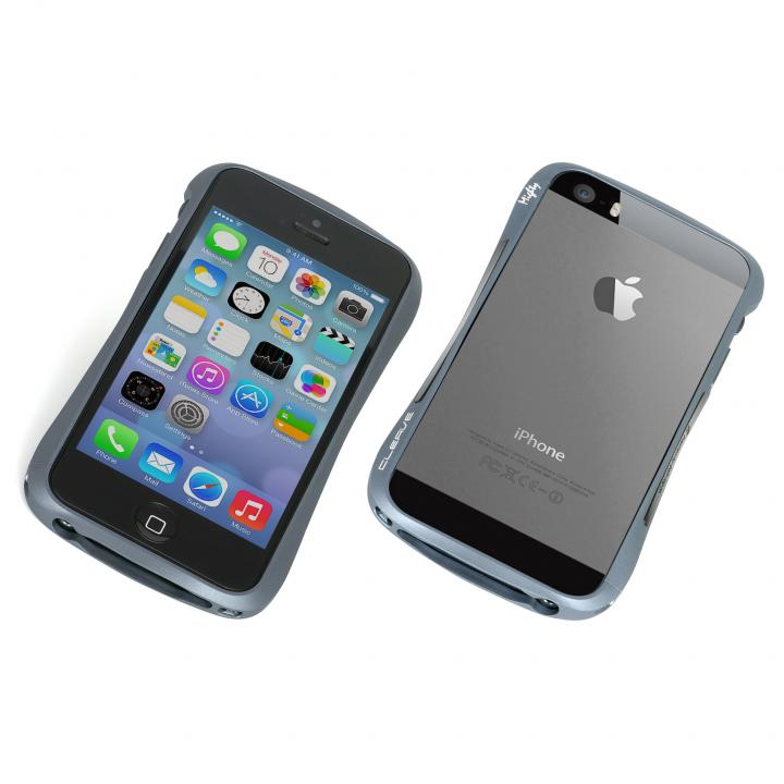 iPhone SE/5s/5 ケース エレガントなアルミバンパー CLEAVE ALUMINUM BUMPER Mighty iPhone SE/5s/5 ブルー_0