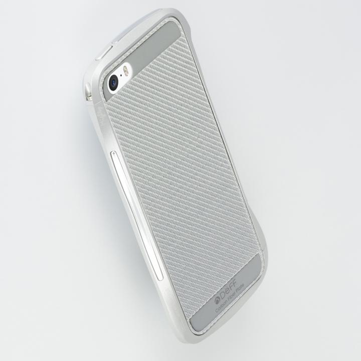 【iPhone SE/5s/5ケース】Carbone Plate  iPhone SE/5s/5 Silver_0