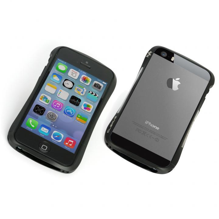 iPhone SE/5s/5 ケース エレガントなアルミバンパー CLEAVE ALUMINUM BUMPER Mighty iPhone SE/5s/5 ブラック_0
