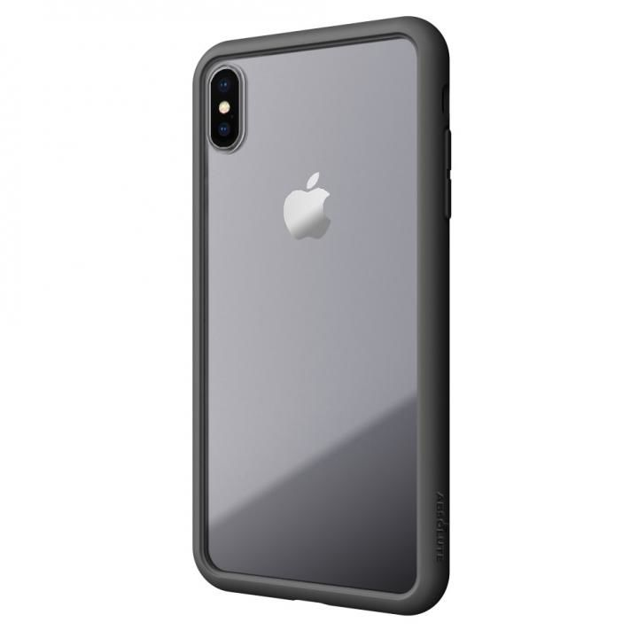 【iPhone XS/Xケース】LINKASE AIR with Gorilla Glass 側面TPU ブラック iPhone XS/X_0