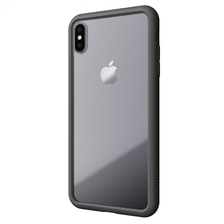 【iPhone XS Maxケース】LINKASE AIR with Gorilla Glass 側面TPU ブラック iPhone XS Max_0