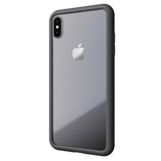 【iPhone XS Maxケース】LINKASE AIR with Gorilla Glass 側面TPU ブラック iPhone XS Max