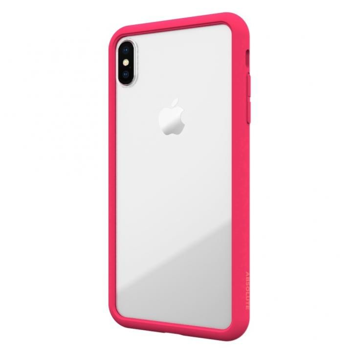【iPhone XS Maxケース】LINKASE AIR with Gorilla Glass 側面TPU ピンク iPhone XS Max_0