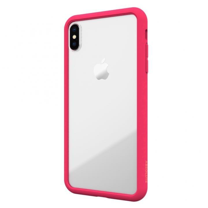 【iPhone XS Maxケース】LINKASE AIR with Gorilla Glass 側面TPU ピンク iPhone XS Max【10月中旬】_0