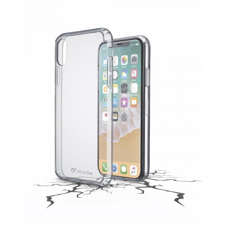 iPhone X ケース Cellularline CLEAR DUO ハード&ソフトフレームケース iPhone X_0