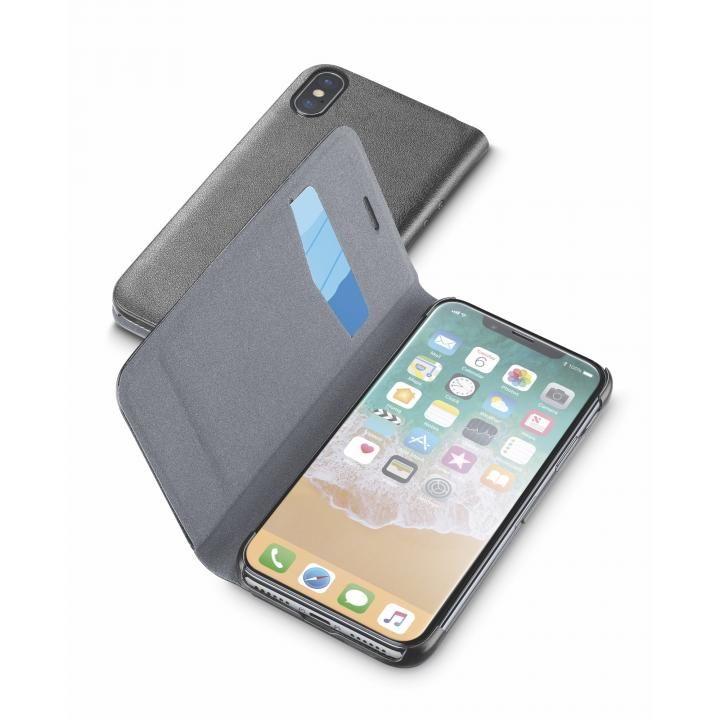 iPhone X ケース Cellularline Book Essential 手帳型ケース ブラック iPhone X_0
