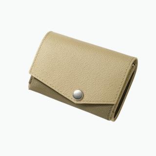 【10月上旬】小さい財布 abrAsus(アブラサス) ベージュ×カーキ