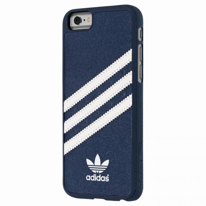 【iPhone6s/6ケース】adidas スエード ハードケース ブルー/ホワイト iPhone 6s/6_0