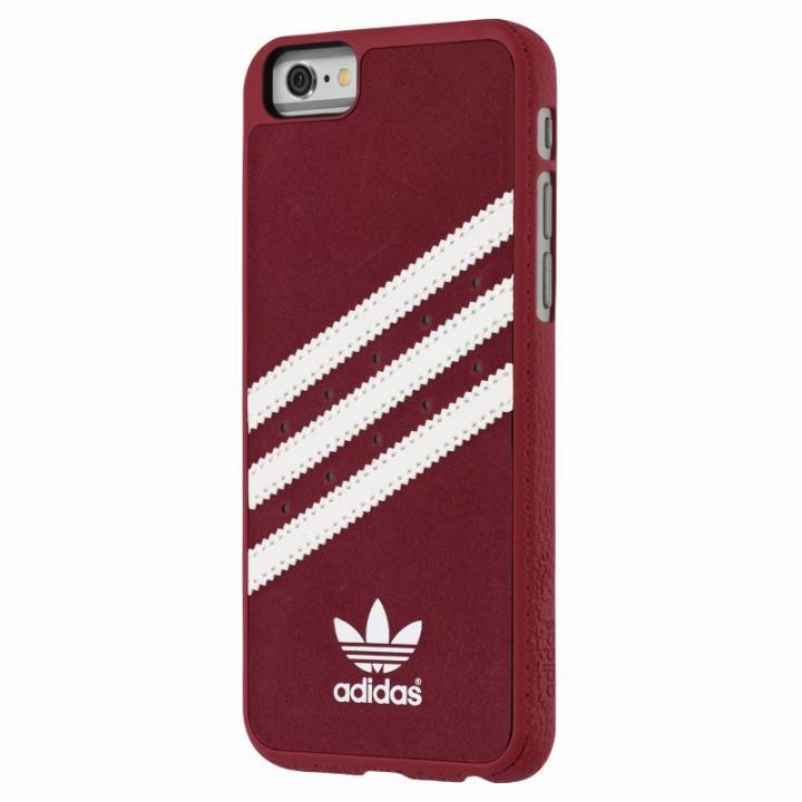 【iPhone6s/6ケース】adidas スエード ハードケース レッド/ホワイト iPhone 6s/6_0