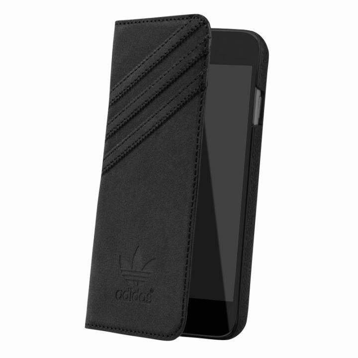 【iPhone6s/6ケース】adidas スエード 手帳型ケース ブラック iPhone 6s/6_0