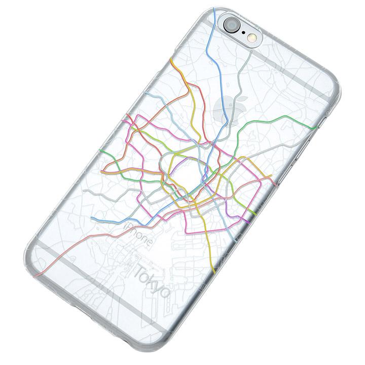 【iPhone6s/6ケース】地下鉄路線図デザインクリアケース modref 東京 iPhone 6s/6_0